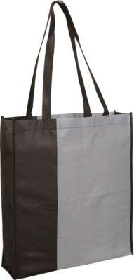 Einkaufstasche City-Bag 3, inkl. 1 farbigem Werbedruck und Grundkosten, grau/schwarz
