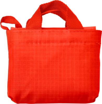 Einkaufstasche ELKE, Kunststoff, 2 kurze Henkel, inkl. Etui, Werbedruck 220 x 200 mm, rot