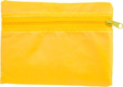 Einkaufstasche KILAMA, faltbar, Werbedruck 160 x 160 mm, 190T Polyester, gelb