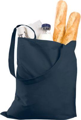 Einkaufstasche Klassik, mit langen Tragegriffen, Baumwolle, dunkelblau