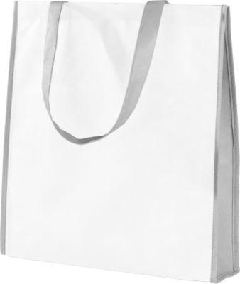 Einkaufstasche Lisboa, weiß/grau