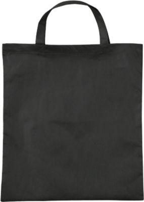 Einkaufstasche mit Kordelzug, schwarz