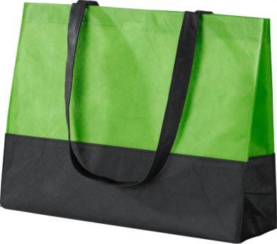 Einkaufstasche Roma, Polypropylen, schwarz/grün