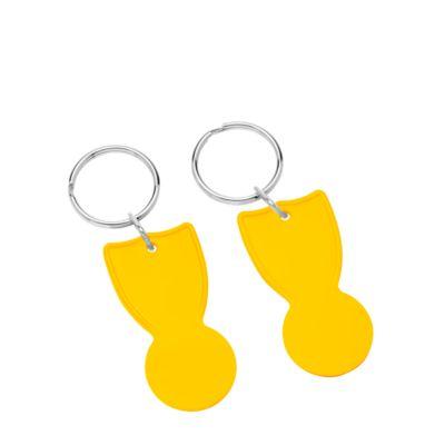 Einkaufswagenchip-Halter, Kunststoff, L 50 x B 25 x H 3 mm, WAB 35 x 10 mm, gelb