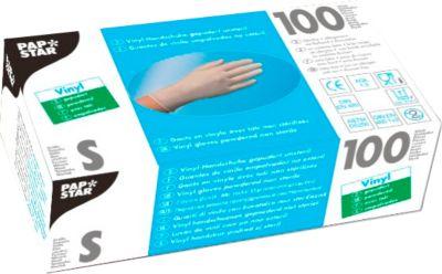 Einmalhandschuhe, Vinyl, gepudert, transparent, 100 Stück, Größe S