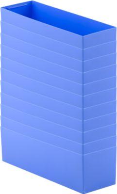 Einsatzkasten EK 6022 L, PP, blau, 10 Stück