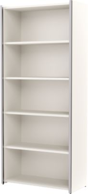 Einzelregal AXXETO, 5 OH, B 800 x T 380 x H 1830 mm, weiß