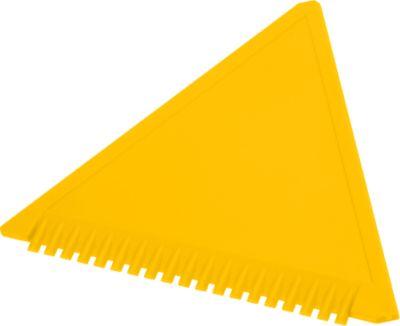 Eiskratzer Dreieck, aus Kunststoff, gelb