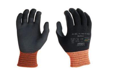 Elastane gebreide handschoen Multitex, met nitril microschuimcoating, 12 paar, maat XXL.
