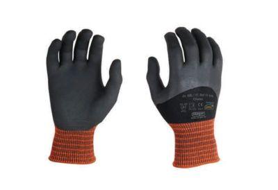 Elastane gebreide handschoenen Oilatex, met 3/4-nitril coating, vloeistofdicht, 12 paar, maat M