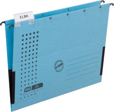 ELBA chic® ULTIMATE Hängetasche, für Formate bis DIN A4, Kunstsoff, 25 Stück, blau