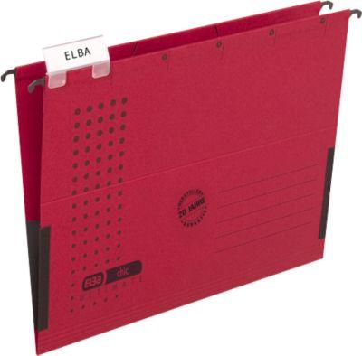 ELBA chic® ULTIMATE Hängetasche, für Formate bis DIN A4, Kunstsoff, 25 Stück, rot