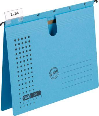 ELBA Hangmappen chic® ULTIMATE, blauw, 25 stuks
