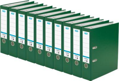 ELBA Ordner smart, DIN A4, Rückenbreite 80 mm, 10 Stück, grün