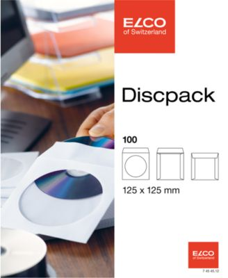 ELCO Discpack, Papero, 90g, 100St.,124x124mm