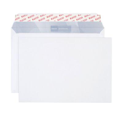 ELCO enveloppen met kleefstrook C5/6, 114 x 229 mm, 80 g/m², zonder venster, pak van 200 stuks