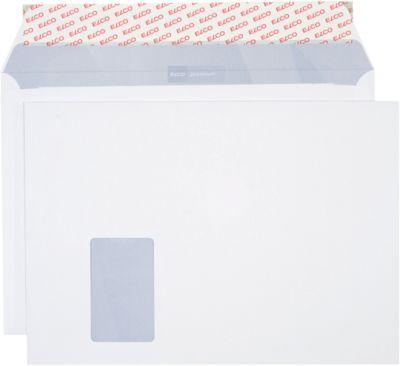 ELCO Kuverts, mit Haftklebeverschluß, Office Shopbox C4, Fenster links, 120 g, 50 Stück