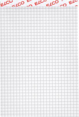 ELCO Notizblock, 4 mm kariert, DIN A6, 100 Blatt, weiß