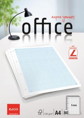 Elco Office Ringbucheinlagen A4, 5 mm Karierung