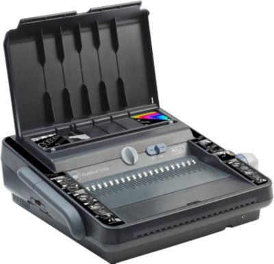 Elektrisches Bindegerät GBC MultiBind 230E, Draht-/Plastikbindung 125/450 Blatt, Stanzung 30 Blatt, A4 & A5, schwarz