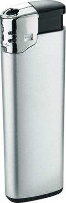 Elektronik-Feuerzeug, mit Kindersicherung, silber/schwarz