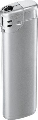 Elektronik-Feuerzeug, mit Kindersicherung, silber/silber