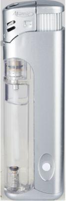 Elektronik-Feuerzeug, mit LED-Leuchte, silber