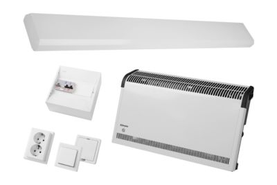 Elektropaket für mobile Räume
