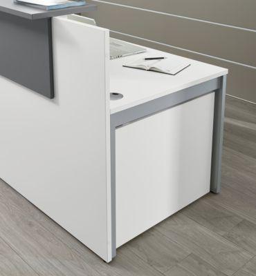 Empfangstheke Come-In, 1 Ablage, gerade, Breite 1600 mm, weiß/graphit