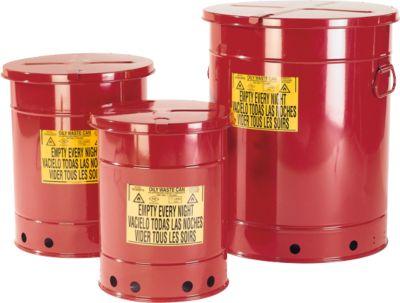 Entsorgungsbehälter aus Stahlblech, Handbedienung, 20 l