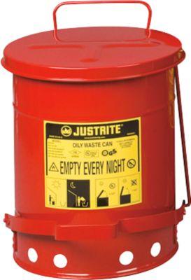 Entsorgungsbehälter aus Stahlblech mit Fußpedal, 23