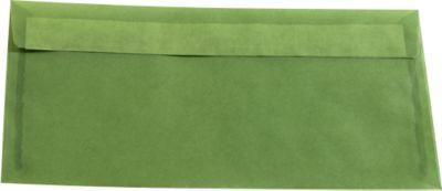 Envelop, groen, 10 st., transparant