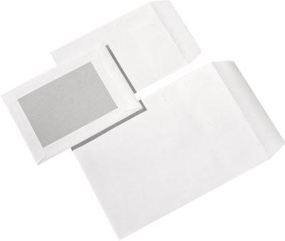 Enveloppen, C5, met kartonnen rug, z.venster, wit, 250 st.