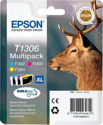 Epson 3 Tintenpatronen T13064010 cyan, magenta, gelb