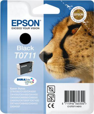 Epson inkjet Epson C13T07114010|T0711 Inktcartridge zwart, 245 Paginas, Inhoud 7,4 ml