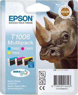 Epson inkjet Epson C13T10064010|T1006 Inktcartridge MultiPack C,M,Y, Inhoud 3x11,1ml voor Epson Stylus...