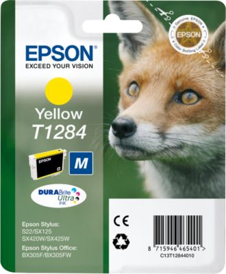 Epson inkjet Epson C13T12844010|T1284 Inktcartridge geel, 225 Paginas, Inhoud 3,5 ml voor Stylus Offic...