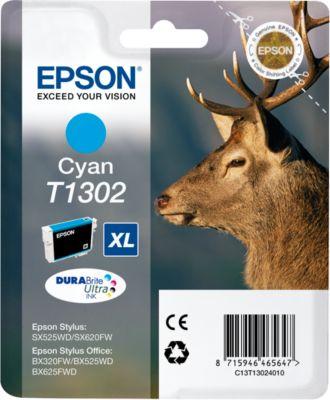 Epson inkjet Epson C13T13024010, T1302 Inktcartridge cyaan XL