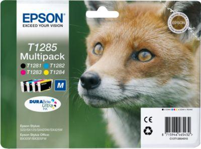 Epson inktpatronen T12854010, zwart, cyaan, magenta, geel