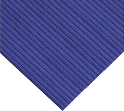 Ergonomischer Läufer, 10 m Rolle, 600 mm breit, blau