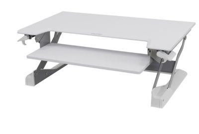 Ergotron Sitz-Steh-Schreibtisch WorkFit-TL, höheneinstellbar, Maße B 950 x T 640 mm, weiß