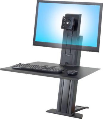 Ergotron WorkFit-SR, 1 Monitor, Sitz-Steh-Schreibtisch-Arbeitsplatz, schwarz