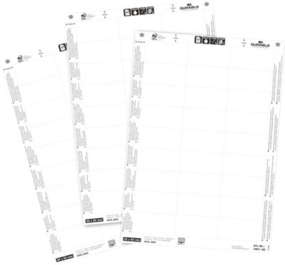 Ersatz-Einsteckschilderbogen, 30 x 60 mm, 540 Stück