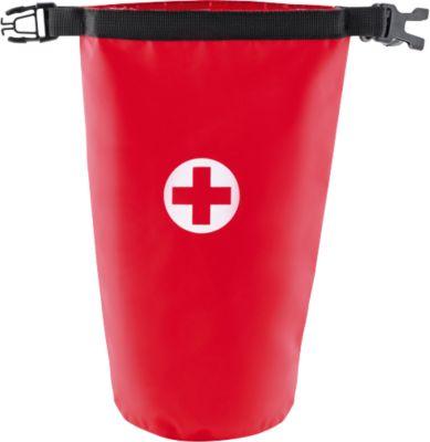 Erste Hilfe-Set SUPERBAG, in spritzwassergeschützter Tasche, 24-teilig, Siebdruck 1-farbig 40 x 130 mm, rot