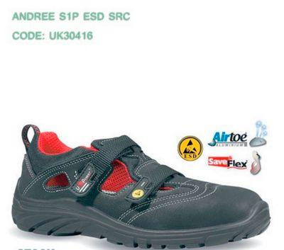 ESD-Sicherheitssandale U-Power Andree, S1P, Alukappe, Größe 35