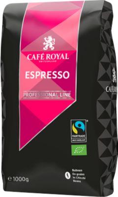 Espresso-Bio-Bohnen Café Royal Professional Line, Fairtrade, Stärkegrad 4/5, 1 kg
