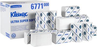 Essuie-mains Kleenex® Ultra Supersoft, haute blancheur, 2880 essuie-mains