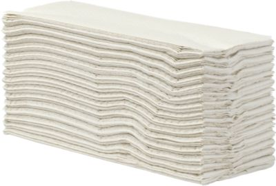 Essuie-mains, tissue , 2- couches, pilage en C, blanc naturel, 2400 feuilles