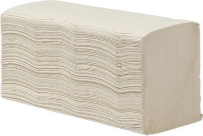 Essuie-mains, tissue, 2- couches, zig- zag pilage, naturel, 3750 feuilles