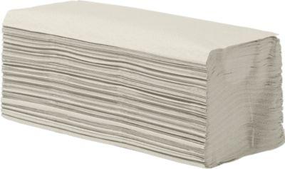 Essuies-mains enchevêtrés, crêpe, 1 épaisseur, pliage zig-zag, naturel, 250 x 230 mm, 5000 feuilles